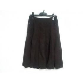【中古】 フォクシーニューヨーク FOXEY NEW YORK スカート サイズ40 M レディース ダークブラウン