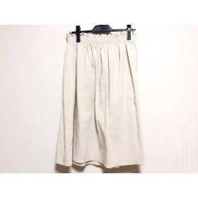 【中古】 ナチュラルビューティー NATURAL BEAUTY スカート サイズ15 L レディース ベージュ ウエストゴム
