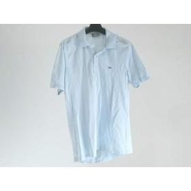 【中古】 ラコステ Lacoste 半袖ポロシャツ サイズ3 L メンズ ライトブルー