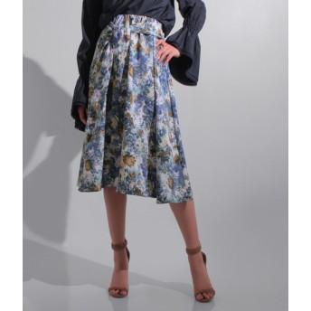 【セール開催中】ANAP(アナップ)ジャガード風フラワープリントスカート