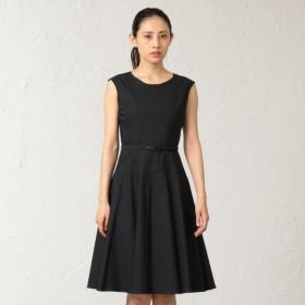 SALE【エポカ(EPOCA)】 リネンブレンド ドレス リネンブレンド ドレス 黒