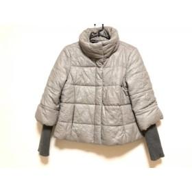 【中古】 ジャンニロジュディチェ ダウンジャケット サイズ42 L レディース グレー 冬物/ドット柄