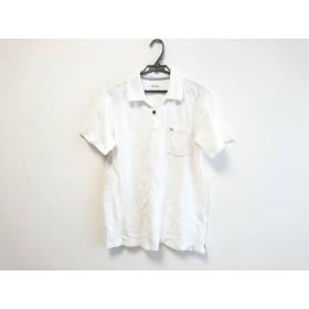 【中古】 ポールスミス PaulSmith 半袖ポロシャツ サイズL レディース 白