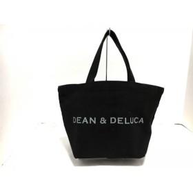 【中古】ディーンアンドデルーカ DEAN & DELUCA ハンドバッグ 黒xライトグレー キャンバス