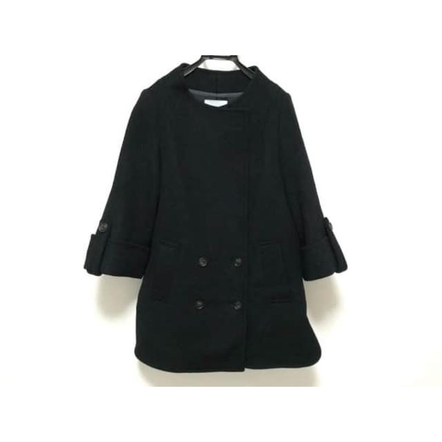 【中古】 アクアガール aquagirl コート サイズ36 S レディース 黒 冬物