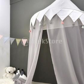 B Baosity 子供 キッズ遊びテント ベッドキャノピー 蚊帳 シフォンカーテン ベッドルーム 読書コーナー 室内