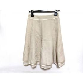 【中古】 ジャスグリッティー JUSGLITTY スカート サイズ1 S レディース ベージュ シフォン