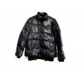 【中古】 アルマーニジーンズ ARMANIJEANS ダウンジャケット サイズ42 M レディース 黒 袖取り外し可/冬物