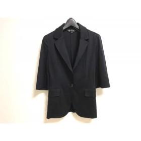 【中古】 インディビ INDIVI ジャケット サイズ36 S レディース 黒 七分袖