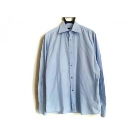 【中古】 グッチ GUCCI 長袖シャツ メンズ 美品 ライトブルー