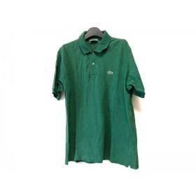 【中古】 ラコステ Lacoste 半袖ポロシャツ サイズ5 XL メンズ グリーン