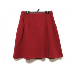 【中古】 ルネ Rene スカート サイズ36 S レディース 美品 レッド