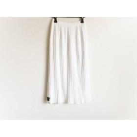 【中古】 バレンザポースポーツ VALENZA PO SPORTS ロングスカート サイズ40 M レディース 白 ニット