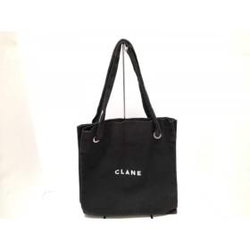 【中古】 クラネ CLANE トートバッグ 黒 キャンバス