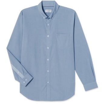 ポケット付きチェックボタンダウンシャツ