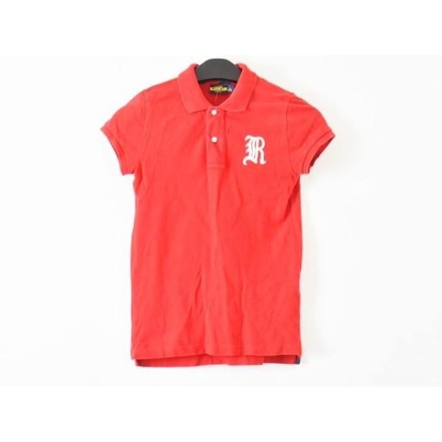 【中古】 ラルフローレンラグビー Ralph Lauren Rugby 半袖ポロシャツ サイズM レディース レッド