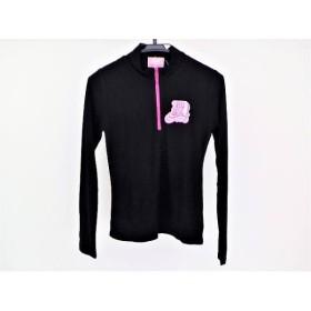 【中古】 パーリーゲイツ PEARLY GATES 長袖カットソー サイズ1 S レディース 黒 ピンク barbie golf