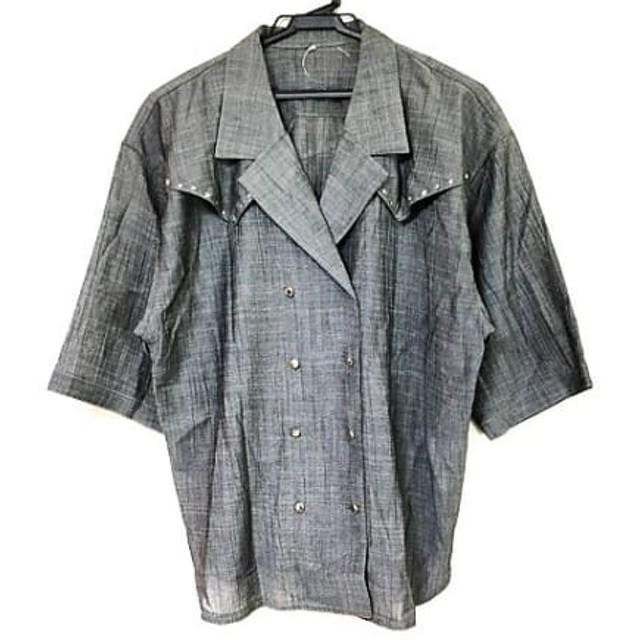【中古】 レリアン Leilian ジャケット サイズ11 M レディース 美品 グレー スター