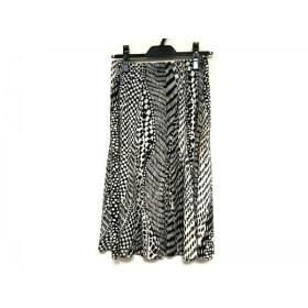 【中古】 レキップ ヨシエイナバ L'EQUIPE YOSHIE INABA スカート サイズ38 M レディース 白 黒