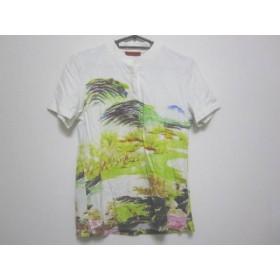 【中古】 ヴィヴィアンタム 半袖ポロシャツ サイズ0 XS レディース 白 ライトグリーン マルチ