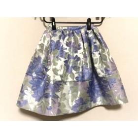 【中古】 チェスティ スカート サイズ0 XS レディース 美品 ライトグリーン パープル マルチ 花柄