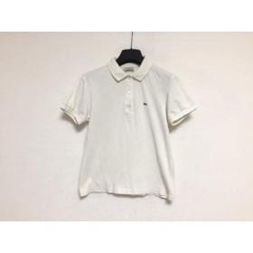 【中古】 ラコステ Lacoste 半袖ポロシャツ サイズ38 M レディース アイボリー