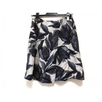 【中古】 アドーア ADORE スカート サイズ38 M レディース ライトグレー グレー ブルー 花柄