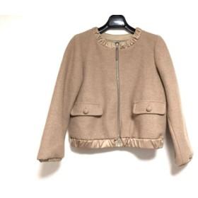 【中古】 クチュールブローチ CoutureBrooch ジャケット サイズ38 M レディース ベージュ ジップアップ