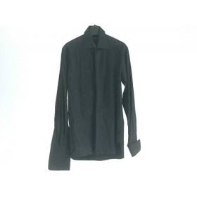 【中古】 グッチ GUCCI 長袖シャツ サイズ38 M メンズ 黒 プリーツ