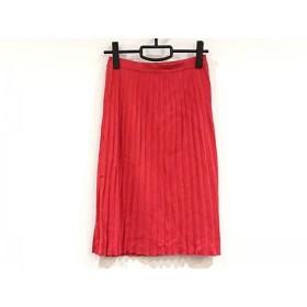 【中古】 マーロ MALO スカート サイズ40 M レディース レッド ニット/プリーツ