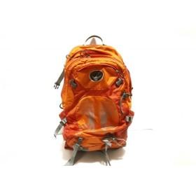【中古】 オスプレー OSPREY リュックサック オレンジ グレー STRATOS24 ナイロン