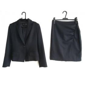 【中古】 シトラスノーツ CITRUS NOTES スカートスーツ サイズ36 S レディース ダークネイビー 肩パッド