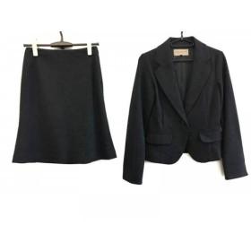 【中古】 プロポーションボディドレッシング スカートスーツ サイズ2 M レディース 美品 ダークグレー