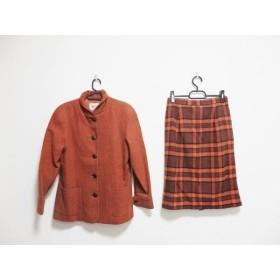 【中古】 ジュンアシダ JUN ASHIDA スカートスーツ サイズ9 M レディース ブラウン 肩パッド