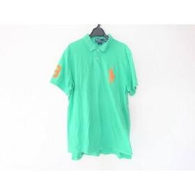 【中古】 ポロラルフローレン 半袖ポロシャツ サイズXL メンズ ビッグポニー グリーン オレンジ 刺繍