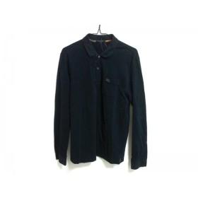 【中古】 バーバリーロンドン Burberry LONDON 長袖ポロシャツ サイズL メンズ ダークネイビー