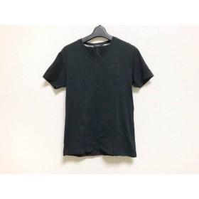 【中古】 バーバリーブラックレーベル Burberry Black Label 半袖Tシャツ サイズ2 M レディース 黒