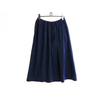 【中古】 ワイズ Y's ロングスカート サイズ2 M レディース ダークネイビー