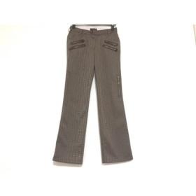 【中古】 イタリヤ 伊太利屋/GKITALIYA パンツ サイズ5 XS レディース ダークグリーン 刺繍
