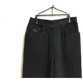 【中古】 イタリヤ 伊太利屋/GKITALIYA パンツ サイズ9 M レディース ダークグレー ラインストーン