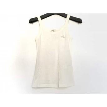 【中古】 ガス GAS キャミソール サイズS レディース 新品同様 アイボリー シルバー 刺繍