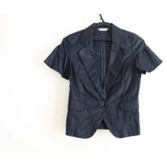 【中古】 バビロン BABYLONE ジャケット サイズ38 M レディース 黒 麻綿