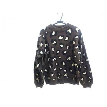 【中古】 オゾック OZOC 長袖セーター サイズ38 M レディース ブラウン ブラック