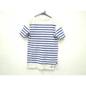 【中古】 オーシバル ORCIVAL 半袖Tシャツ メンズ 白 ブルー ボーダー