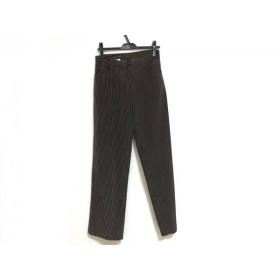 【中古】 アニエスベー agnes b パンツ サイズ38 M レディース 黒 ダークブラウン ベージュ ストライプ