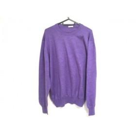 【中古】 グランサッソ gran sasso 長袖セーター サイズ46 XL メンズ 美品 パープル