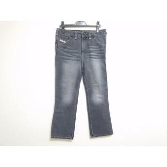 【中古】 ディーゼル DIESEL パンツ サイズ31 レディース 美品 黒 デニム/ウォッシュ加工