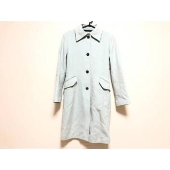 【中古】 トゥモローランド コート サイズ38 M レディース ライトブルー 冬物/カシミヤ/collection