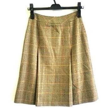 【中古】 バーバリーズ Burberry's スカート サイズ5 XS レディース ブラウン マルチ 千鳥格子
