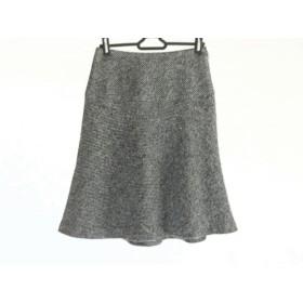 【中古】 エムズグレイシー M'S GRACY スカート サイズ38 M レディース ダークグレー 黒 ラメ
